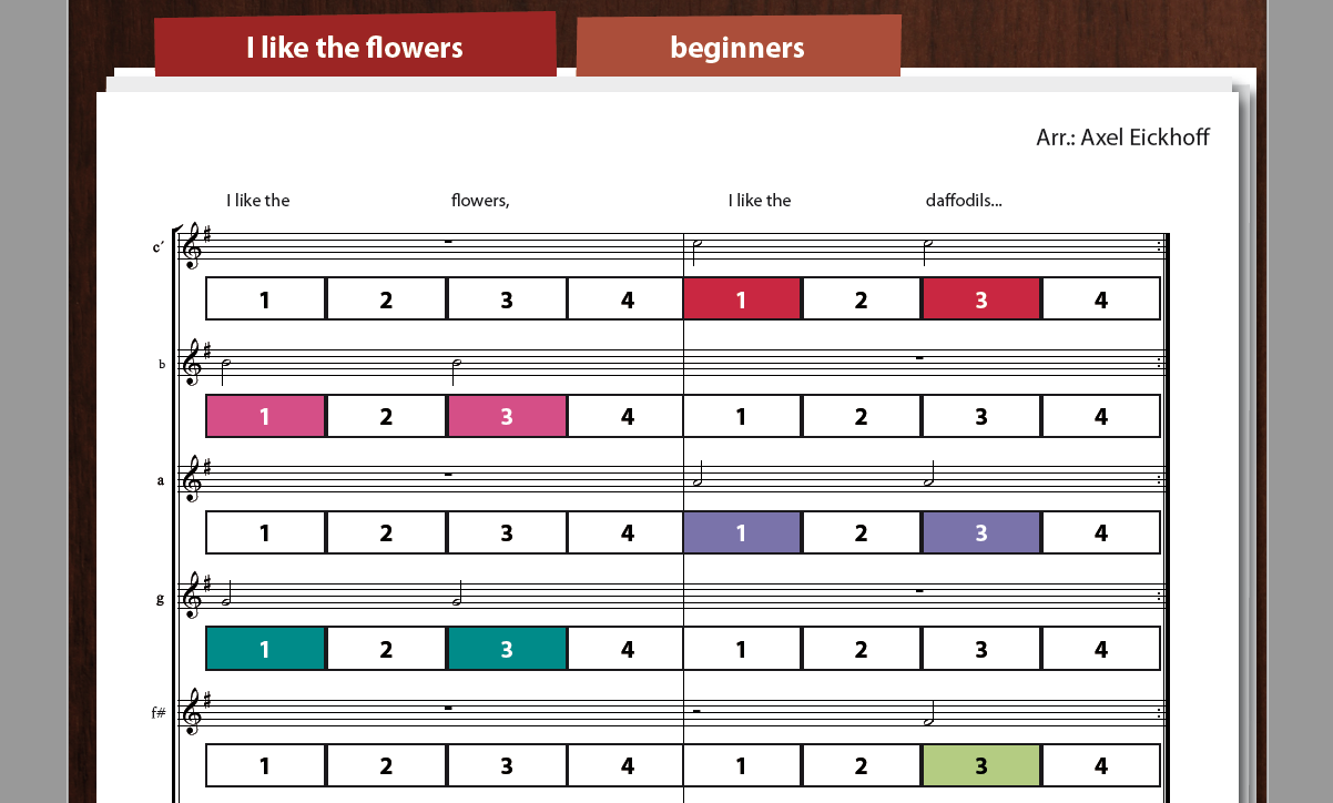 I like the flowers - Boomwhackers - English version