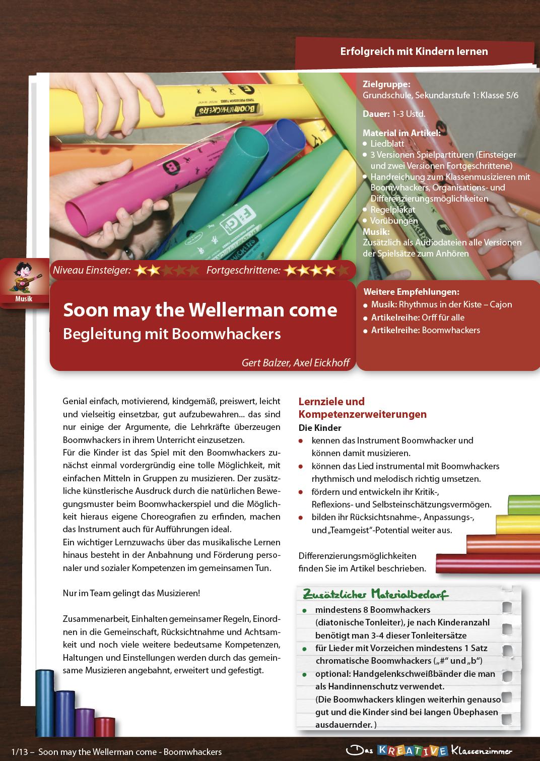 Wellerman (Soon may the Wellerman come) - Klassenmusizieren