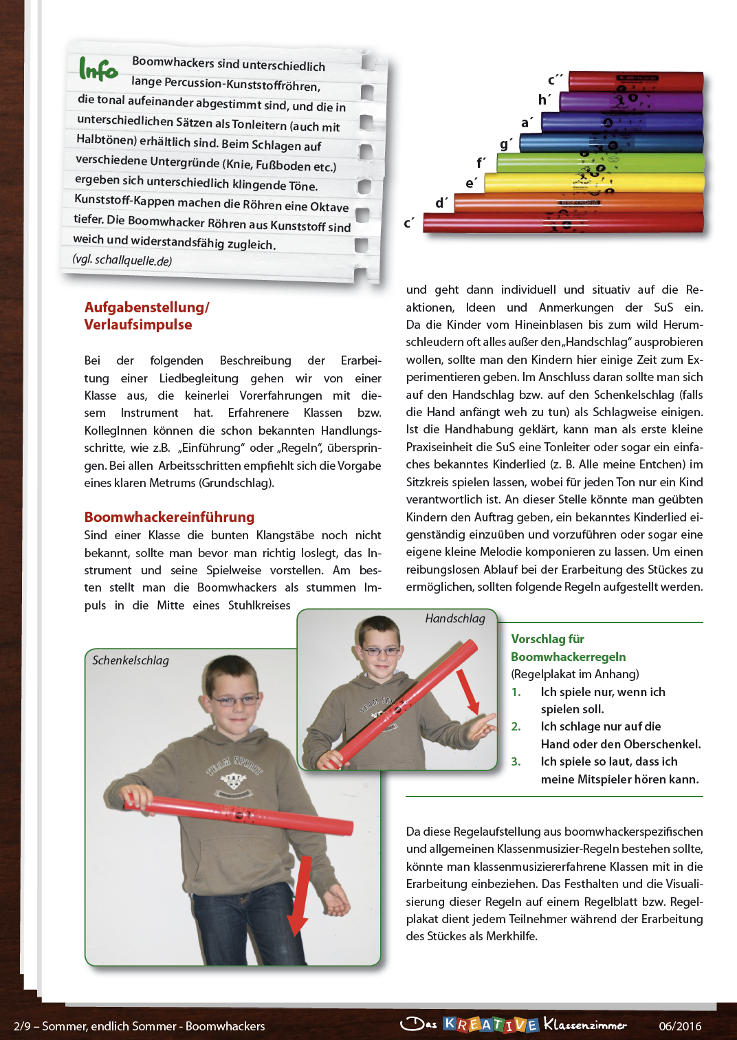 Sommer, endlich Sommer - Boomwhackers