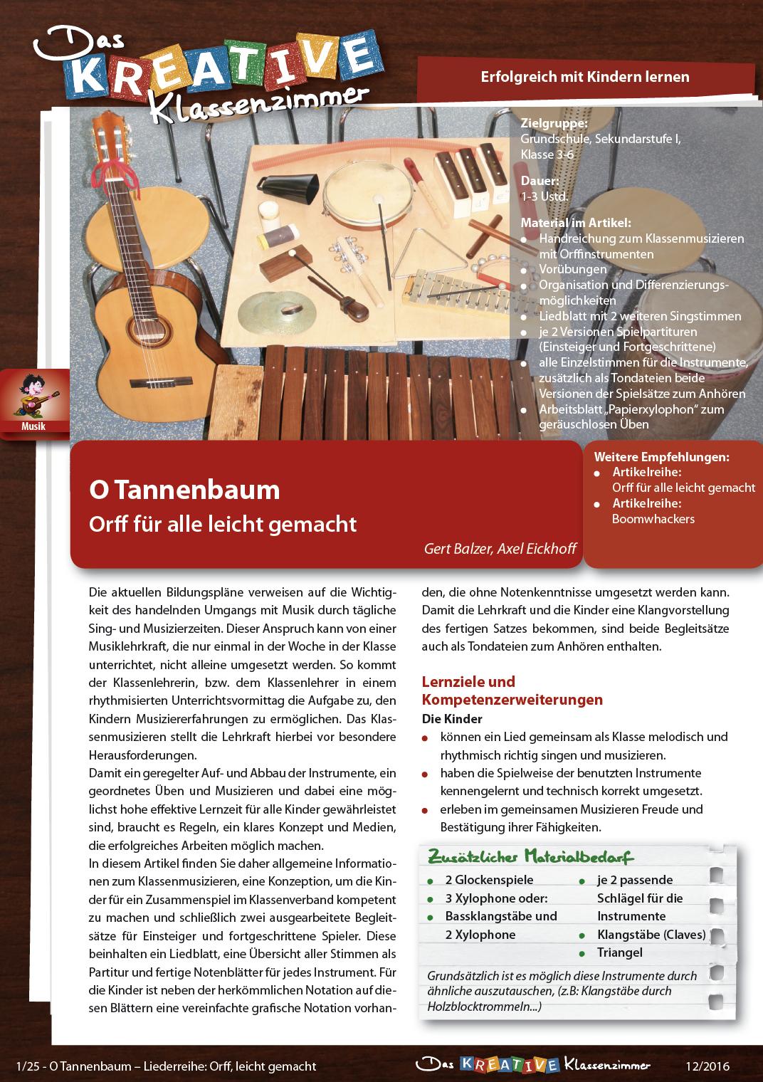 O Tannenbaum - Orff