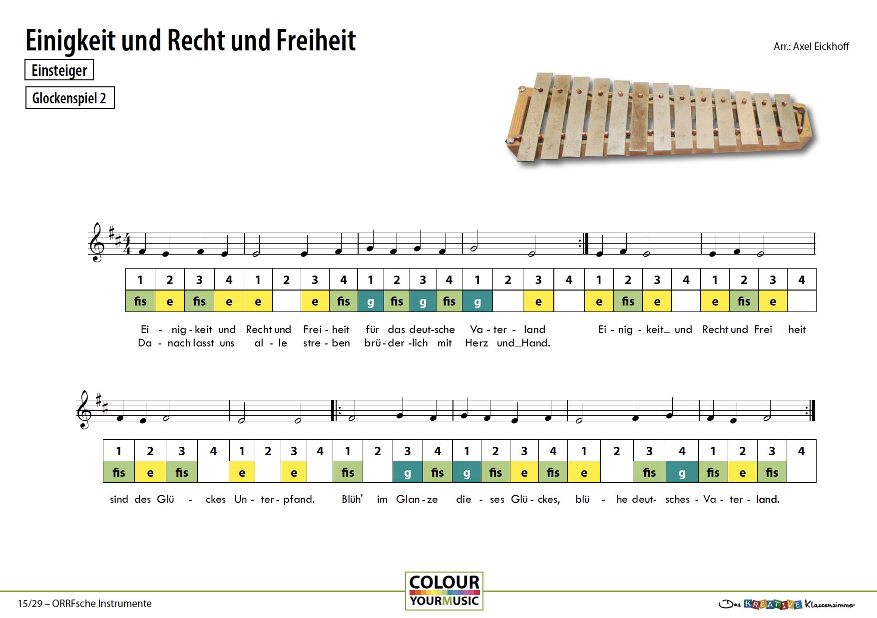 Einigkeit und Recht und Freiheit - Deutsche Nationalhymne - Orff