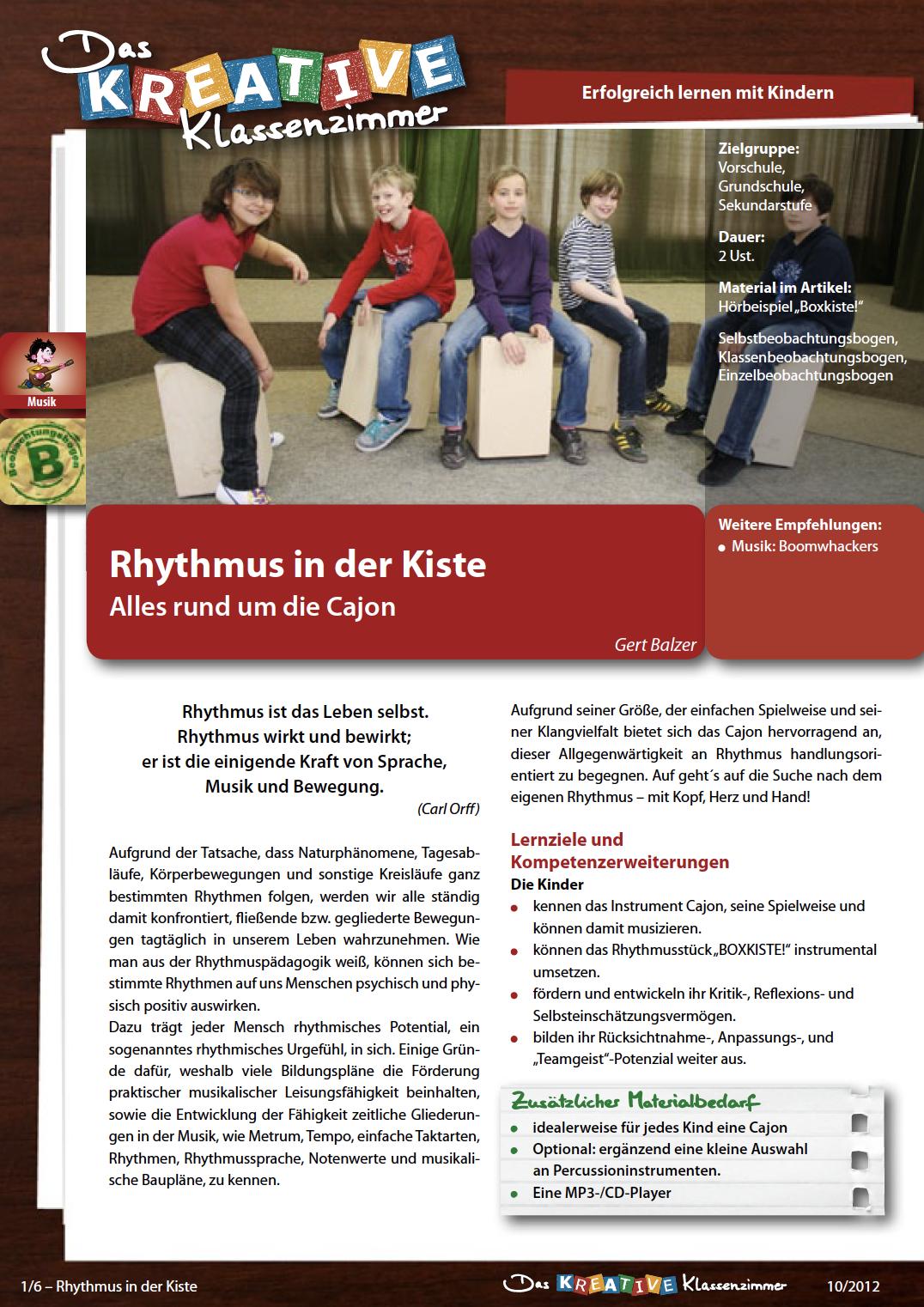 Rhythmus in der Kiste - Alles rund um die Cajon
