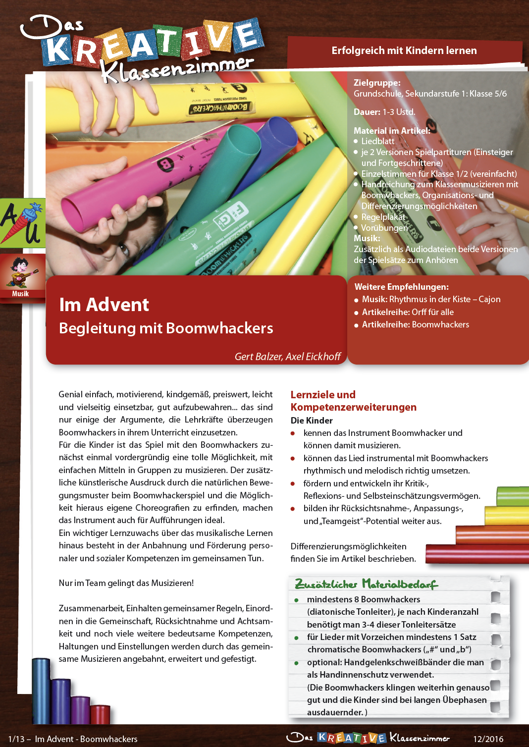Im Advent - Boomwhackers