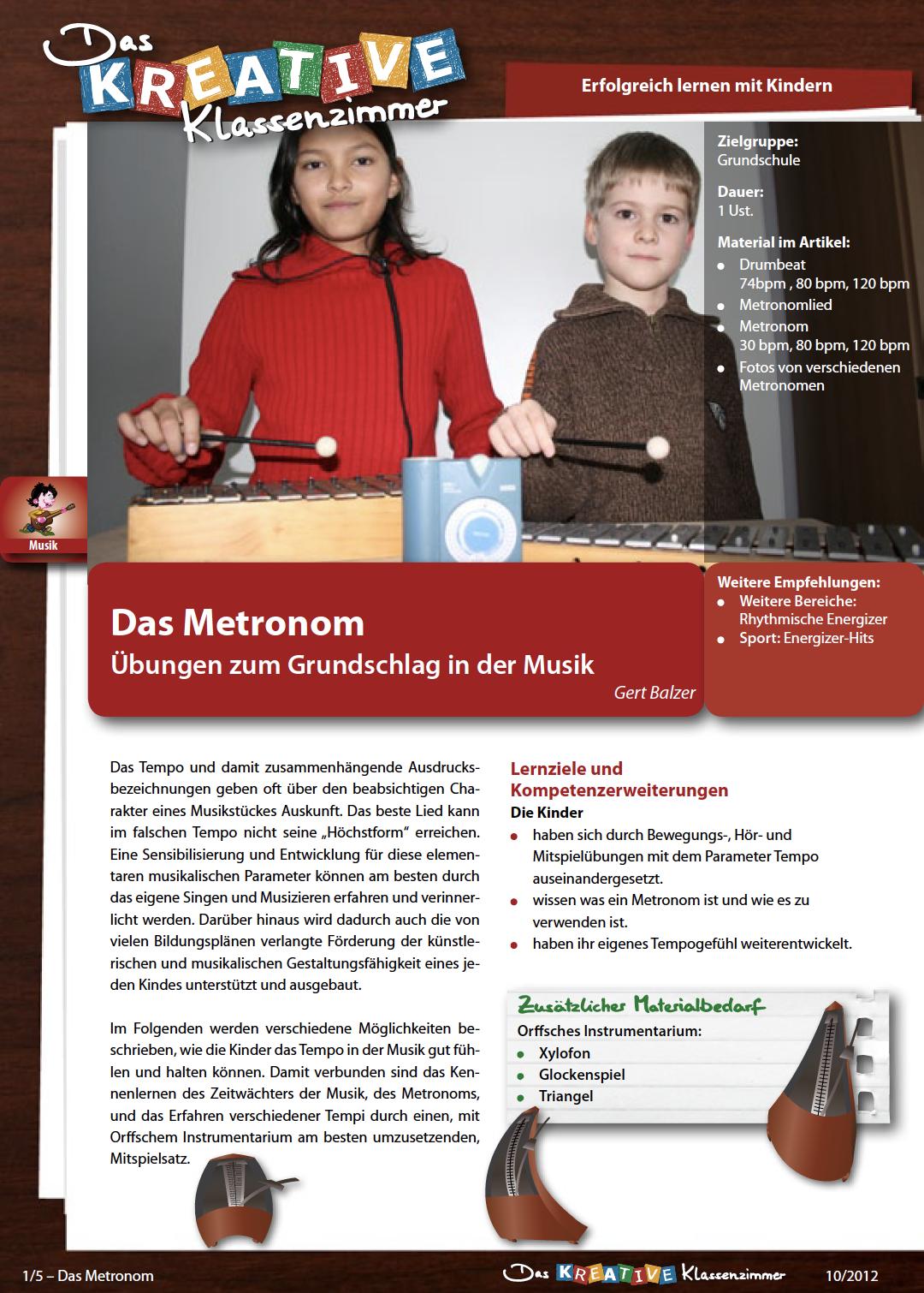 Das Metronom - Übungen zum Grundschlag