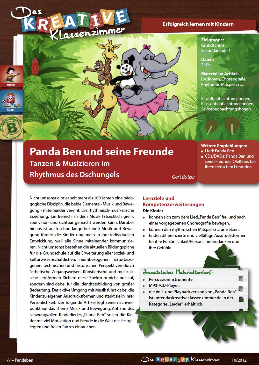 Panda Ben - Tanzen und Musizieren
