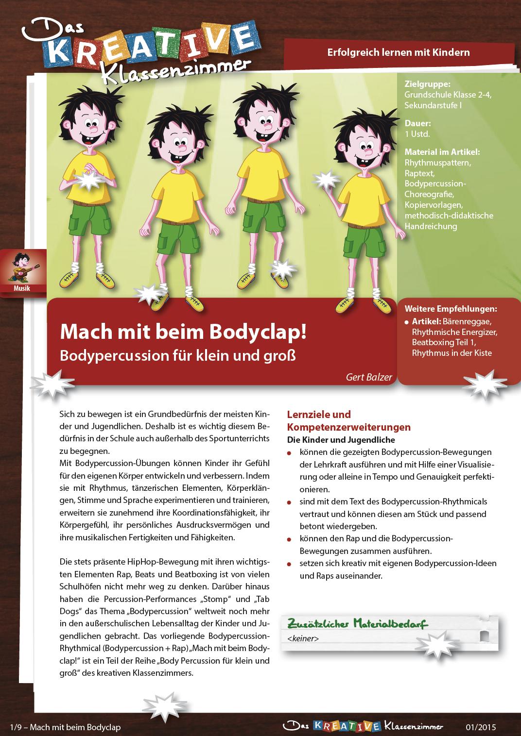 Mach mit beim Bodyclap - Bodypercussion