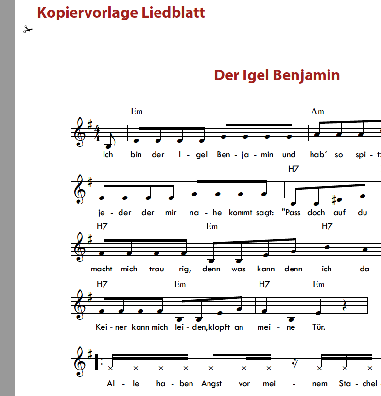 Der Igel Benjamin - Orff