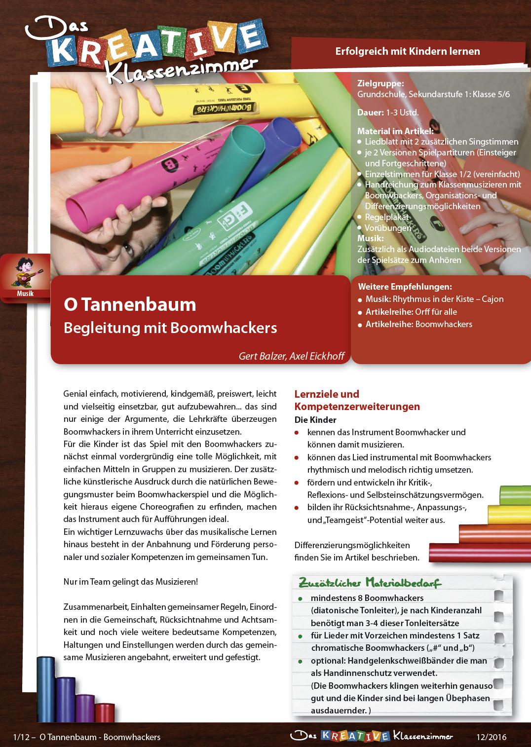 O Tannenbaum - Boomwhackers