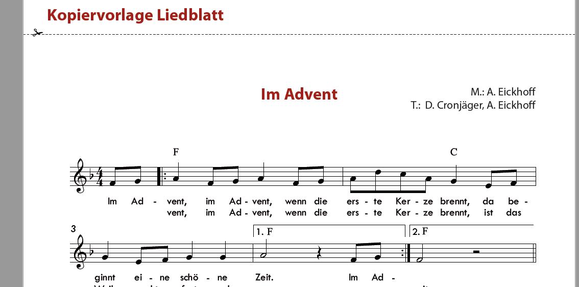 Im Advent - Orff