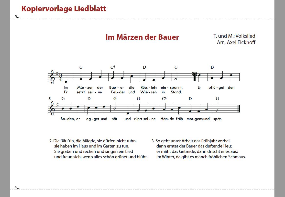 Im Märzen der Bauer - Zusatzmaterial Musikbaukasten