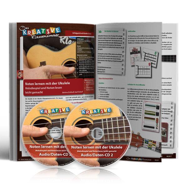 Noten lernen mit der Ukulele - Broschüre mit 2 CDs